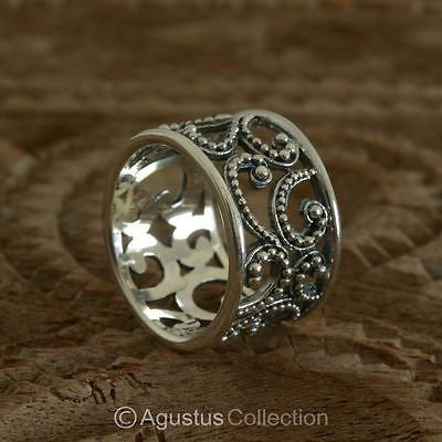 RING Genuine Solid Sterling SILVER Ring 5.25g US size 6 ~ Handmade in Bali