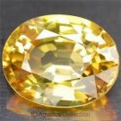0.40 cts Golden Orange SAPPHIRE Oval Facet-cut Natural Gemstone Sri Lanka Ceylon