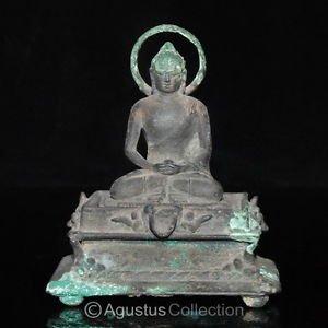 RARE Ancient Bronze Ratnasambhava BUDDHA STATUE Early Java Period 8-9th Century