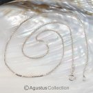 """925 Sterling SILVER Venetian Box Chain 18.1"""" NECKLACE with Spring Clasp 3.36 g"""