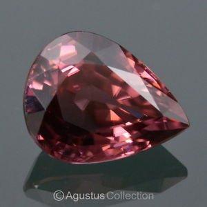 3.07 cts ZIRCON Purplish Pink Drop Facet-cut VVS Clean Natural Gemstone Tanzania