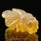 Genuine Natural Borneo AMBER Bee Insect Art Carving Genuine Gemstone 3.9 ct