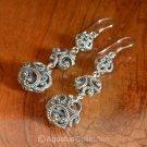 Hook EARRINGS Genuine 925 Sterling Silver 9.48 g ~ Handmade in Bali