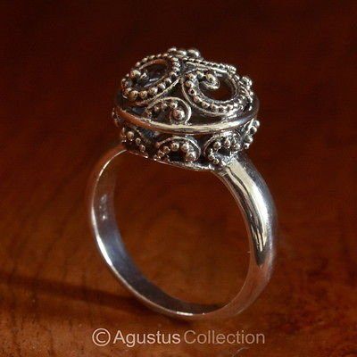 RING Genuine Solid Sterling SILVER Ring 4.34 g US size 5 ~ Handmade in Bali