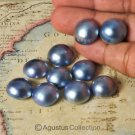 Lot of 10 Lustrous Blue MABE PEARLS Cultured in Sumbawa Indonesia 14.94 g