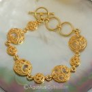 Bracelet Genuine 24K Gold Vermeil over Sterling SILVER 14.78 g ~ Size 7 ½ inches