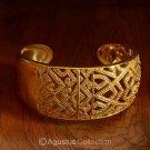 Cuff Bracelet Genuine 24K Gold Vermeil over Sterling SILVER 32.25 g ~ Handmade