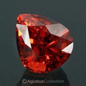 7.14 cts Natural SPESSARTITE Red Orange Pear Drop Cut Clean Africa Certified Gem