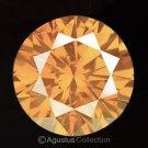 0.04 cts Round Natural loose Orange Diamond 2.17 mm VS2 Clarity Brilliant Cut