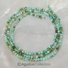 """African Multi-Color TURQUOISE 15.7"""" Strand 2.4mm Round Gemstone BEADS 17 ct"""