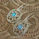 Hook EARRINGS Sterling SILVER & Australian Triplet Opal 5.40 g ~ Handmade