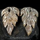 Iridescent Oyster SHELL CARVED Floral Design Earring Pair Handmade in Bali 7.82g
