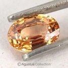 0.65 cts Yellow SAPPHIRE Oval Facet-cut Natural Gemstone Sri Lanka Ceylon