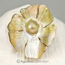 MABE Blister PEARL in SHELL Lustrous Rainbow Iridescent Carving Sumbawa 14.11 g