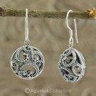 Hook EARRINGS Genuine 925 Sterling Silver 5.82 g ~ Handmade in Bali
