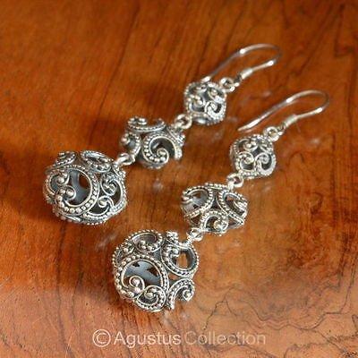 Hook EARRINGS Genuine 925 Sterling Silver 9.84 g ~ Handmade in Bali