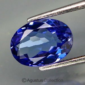 0.88 cts TANZANITE Violet Blue Oval Faceted Cut Clean Natural Gemstone Tanzania