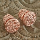 Stud EARRINGS Genuine 18K Rose Gold over Sterling SILVER 20.85 g ~ Handmade