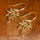 Dragonfly Hook EARRINGS Genuine 24K Gold Vermeil over Sterling SILVER 3.85 g
