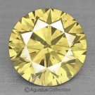 0.06 cts Round Natural loose Light Yellow Diamond 2.48 mm VS2 Clarity Brilliant