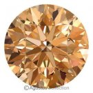 0.05 cts Round Natural Brownish Champagne Diamond 2.35 mm VS2 Brilliant Cut