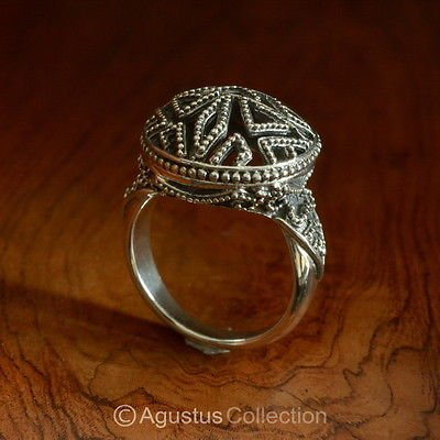 RING Genuine Solid Sterling SILVER Ring 7.18 g US size 6 ~ Handmade in Bali