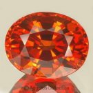 0.55cts Hot Red Orange SAPPHIRE Oval Facet-cut Natural Gemstone Sri Lanka Ceylon