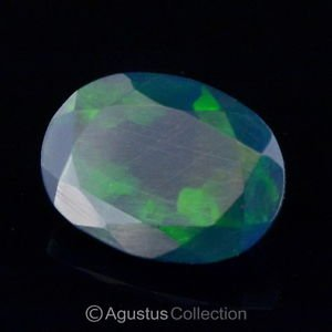 2.05 cts Black WELO OPAL Multicolor Ethiopia Oval Facet-cut Natural Gemstone