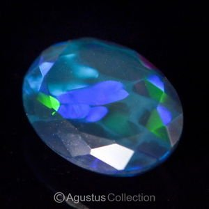 1.51 cts Black WELO OPAL Multicolor Ethiopia Oval Facet-cut Natural Gemstone