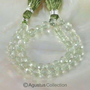 """Natural Green AMETHYST 9.25"""" Strand Faceted Round Gemstone BEADS 70 ct"""