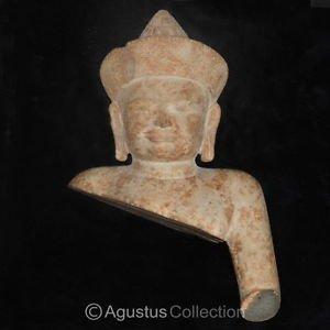 RARE Ancient pre-KHMER Stone Statue Avalokiteshvara Kampong Thom 6-8thC Cambodia