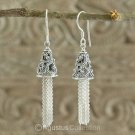 Hook EARRINGS Genuine Sterling SILVER 6.22 g ~ Handmade in Bali