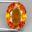 0.40 cts Rich Orange SAPPHIRE Oval Facet-cut Natural Gemstone Sri Lanka Ceylon