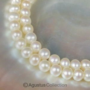 FRESHWATER PEARLS 15.7 inch Strand Lustrous Cream White Nugget China 17.27 g