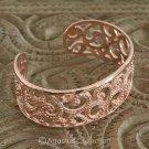 Cuff Bracelet Genuine 18K Rose Gold over Sterling SILVER 49.10 g ~ Handmade