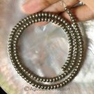 """Natural PYRITE 15.66"""" Strand 4.4+ mm Smooth Rondelle GEMSTONE BEADS 18+ g"""