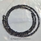 "Natural Drusy Nugget DIAMOND 16"" Bead Strand Grayish Black Gemstone 18.95 ct"