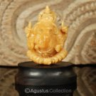 Hindu God GANESHA Carving TAGUA NUT Marvelous Carved Art Sculpture STATUE 1.55""