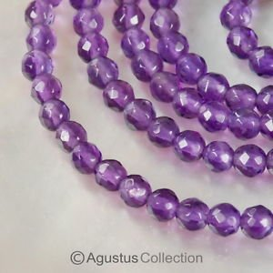 """AMETHYST 15"""" Strand 2.7 mm Sparkling Micro-Faceted Round Gemstone BEADS 16.5 ct"""