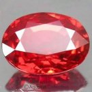 0.40cts Hot Red Orange SAPPHIRE Oval Facet-cut Natural Gemstone Sri Lanka Ceylon