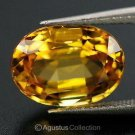 0.45 cts Yellow SAPPHIRE Oval Facet-cut Natural Gemstone Sri Lanka Ceylon