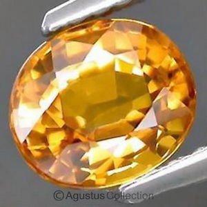 0.40 cts Golden Yellow SAPPHIRE Oval Facet-cut Natural Gemstone Sri Lanka Ceylon