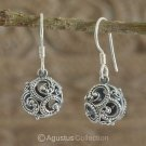 Hook EARRINGS Genuine 925 Sterling Silver 4.31 g ~ Handmade in Bali