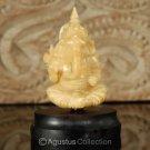 """Hindu God GANESHA Carving TAGUA NUT Marvelous Carved Art Sculpture STATUE 1.92"""""""