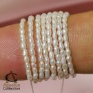 Tiny FRESHWATER PEARLS Cream Rice-Corn Seed 15.5+ Strand Small 1.6 mm Diameter