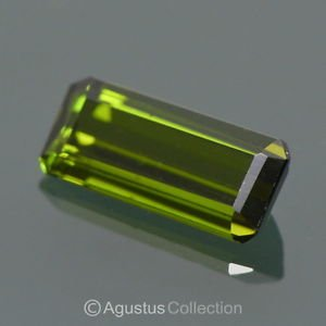 1.32 cts TOURMALINE Green Emerald-Cut Faceted VVS Clarity Clean Mozambique