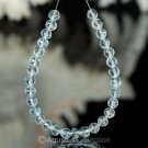 Sky Blue TOPAZ 6.10 inch Strand Faceted Round Natural Gemstone BEADS 43.5 ct