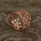 RING Genuine 18K Rose Gold over Sterling SILVER 4.90 g US size 6.5 ~ Handmade