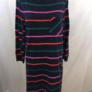 MARC BY MARC JACOBS NAVY MULTI STRIPED SWEATER DRESS SIZE L