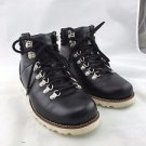 UGG AUSTRALIA BLACK LEATHER SHEARLING INT LACE UP HIKING BOOTS SIZE 8